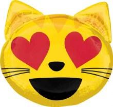 "Emoji Cat Heart Eyes ~ 22"""