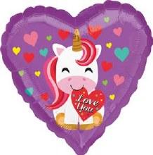 "Heart Unicorn Love You ~ 18"""