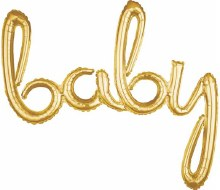 """AirFill Baby Gold Script Banner/Prop ~ 39"""""""