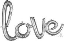 "AirFill LOVE Script ~ Silver 31"""