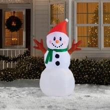 4ft Airblown Light Up Snowman