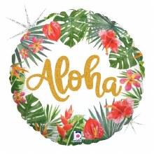 "Aloha Holographic Tropical ~ 18"""
