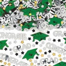 School Colors Green Confetti