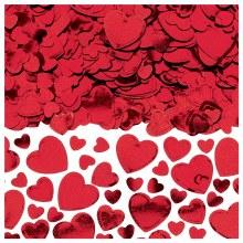 Confetti Hearts Red