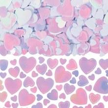 Confetti Hearts Iridescent