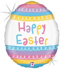 """Holographic Happy Easter Egg ~ 18"""""""
