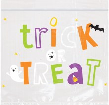 "Treat Bag Re-Seal Halloween 6""x7"""