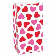 Valentine Paper Treat Bags 12pcs