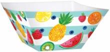Fruit Lg Sq Bowl Paper 3pk
