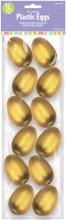Plastic Eggs Gold 12pk
