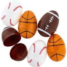 Plastic Eggs Sports 12pk