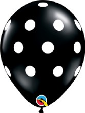 "11"" Matte Black w/ White Polka Dots"