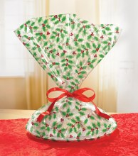 "Holly Cookie Tray Bags ~ 6 Pack/16""x18"""