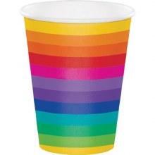 Rainbow Cups 12oz 8ct