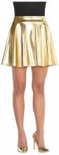 Skirt Flare Metallic Gold