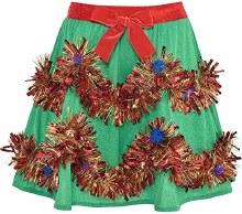 Christmas Tinsel Skirt ~ One Size