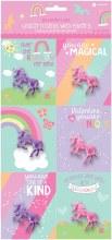 Valentines Cards Unicorn 6pk