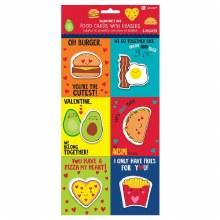 Valentines Cards Food 6pk