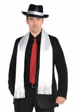 Scarf White 20's Gangster