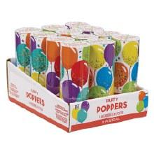Confetti Poppers BDay 12pc.