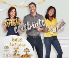 Bday Silver & Gold Cutouts Photo Props