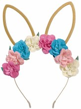 Bunny Ears Gold Floral