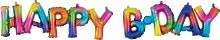 AirFill Rainbow Happy B-Day Banner