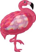 "Jumbo Flamingo Iridescent ~ 33"""
