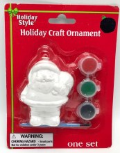 Ornament Kit Santa Plaster