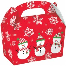 "Snowman Treat Boxes ~ 5 Pack/4.5""x4.8""x2.4"""