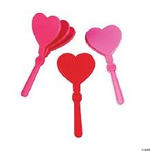Hand Clapper Hearts 12pk