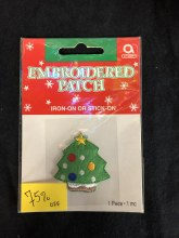 Christmas Tree Embroidered Patch
