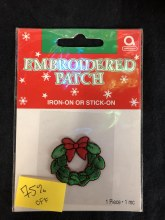 Christmas Wreath Embroidered Patch