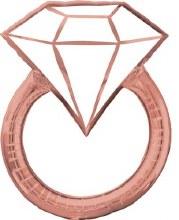"Engagement Ring Rose Gold Diamond ~ 30"""
