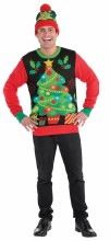 Deluxe Light Up Ugly Christmas Tree Sweater ~ SM