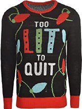 Deluxe Light Up Ugly Christmas Tree Sweater ~ L/XL