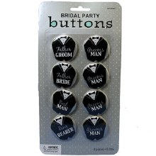 Bridal Party Buttons Groom