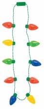 Light Up Jumbo Christmas Bulb Necklace