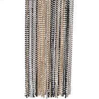 Beads Blk/Gld/Slv 50ct