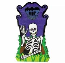 Skeleton w/Tombstone Pinata