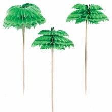 Palm Tree Honeycomb Picks 12pk