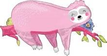 """Jumbo Sloth Pink ~ 37"""""""