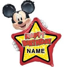 "Happy Birthday Customizable Mickey ~ 30"""