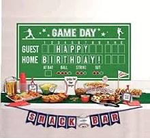 Baseball Buffet Decor Kit 15pc