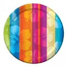 Aloha Summer 7in Plates Stripe 8ct