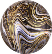 Orbz Marbled Gold & Black ~ 15""