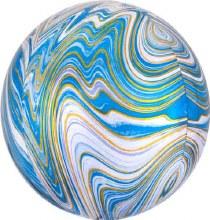 """Orbz Marbled Gold & Blue ~ 15"""""""