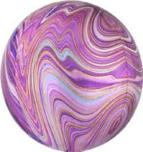 "Orbz Marbled Gold & Purple ~ 15"""