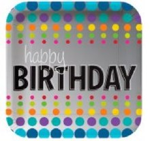 Birthday Pop 7in Plate 8ct