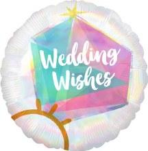 "Iridescent Wedding Wishes ~ 18"""